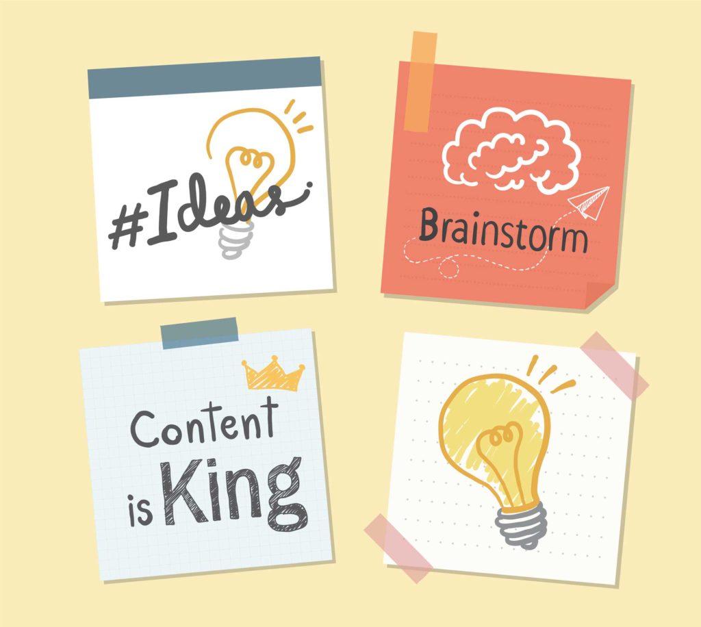 post it de brainstorming ideas content