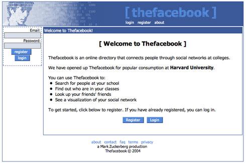 the facebook en 2004